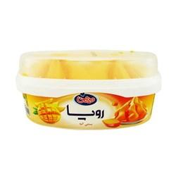 بستنی رویا  با رگه های سس میوه و طعم انبه میهن 650 گرمی