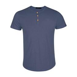 تی شرت مردانه تمام کش فانریپ طرح سه دکمه
