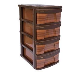 ارگانایزر 4 طبقه طرح چوب ممتاز پلاستیک مدل X