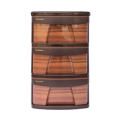 ارگانایزر 3 طبقه طرح چوب ممتاز پلاستیک مدل X
