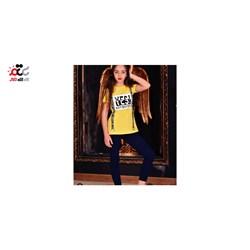 ست بلوز شلوار دخترانه مدل YES کد 624