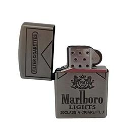 فندک مالبرو نقره ای کد 17