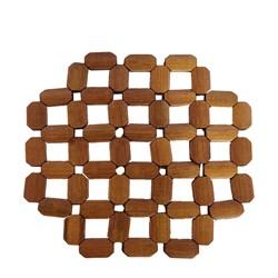زیر قابلمه مهره چوبی طرح بیضی بزرگ کد 1120