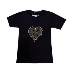 تیشرت دخترانه مدل قلبی کد 618