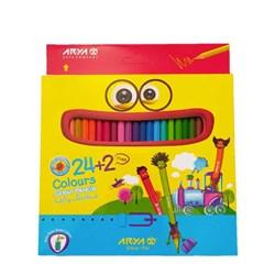 مداد رنگی آریا بسته 24 عددی همراه با 2 مداد بیشتر