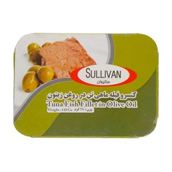 کنسرو فیله ماهی تن در روغن زیتون  سالیوان 110 گرمی