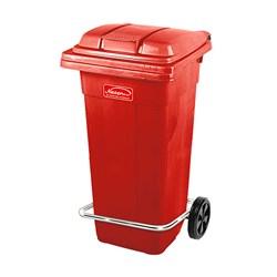 سطل زباله پدالی ناصر پلاستیک مدل چرخ دار 100 لیتری کد 5105