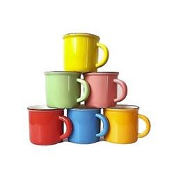 سرویس قهوه خوری شش رنگ 6 پارچه