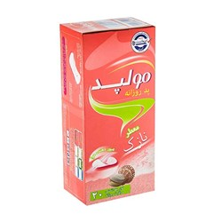 پد بهداشتی روزانه معطر مولپد بسته 20 عددی