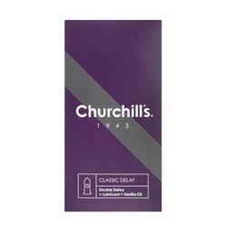 کاندوم ساده با ماده تاخیری چرچیلز مدل Classic Delay بسته 12 عددی