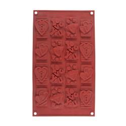 قالب سیلیکونی شکلات مدل آی لاو یو 16 عددی