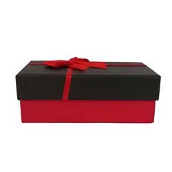جعبه ادکلن مقوایی مستطیل مدل ربان قرمز سایز 2 کد 331