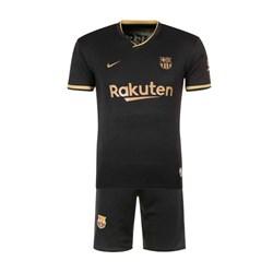 ست تی شرت و شلوارک ورزشی مردانه طرح بارسلونا دوم مدل 2021