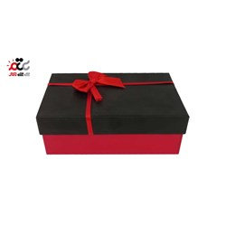 جعبه ادکلن مقوایی مستطیل مدل ربان قرمز سایز 1 کد 221