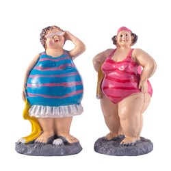 مجسمه دکوری  مدل زنان ساحلی کد 294 مجموعه 2 عددی