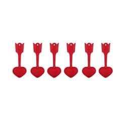 پیمانه ادویه مدل قلب  بسته 6 عددی