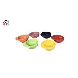 پیاله سرامیک طرح کلاه شش رنگ بسته 6 عددی