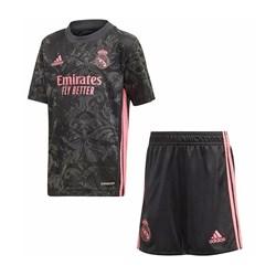 ست تی شرت و شلوارک ورزشی مردانه طرح رئال مادرید مدل 2021