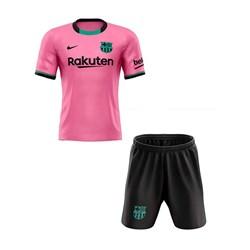 ست تی شرت و شلوارک ورزشی مردانه طرح بارسلونا مدل 2021