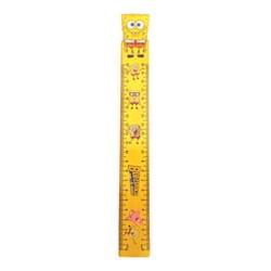 خط کش چوبی طرح دار مدل باب اسفنجی 20 سانتی متری  کد 511160