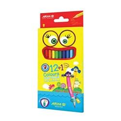 مداد رنگی آریا بسته 12 عددی همراه با 1 مداد بیشتر