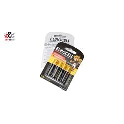 باتری قلمی یوروسل مدل Ultra Alkaline بسته 4 عددی
