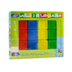 بازی آموزشی گلدونه مدل مکعب های رنگی سایز 1