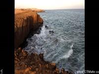 ساحل صخره ای چابهار استان سیستان بلوچستان