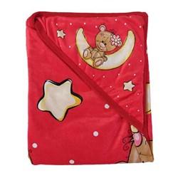 پتو دورپیچ نوزادی طرح خرس و ستاره 80×80 سانتی متری