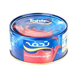 کنسرو تون ماهی با فلفل قرمز در روغن تحفه 180 گرمی