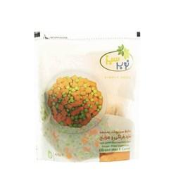 مخلوط نخودفرنگی و هویج مکعبی نوبر سبز 400 گرمی