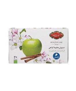 دمنوش مخلوط گیاهی کیسه ای سیب گلستان 20 عددی