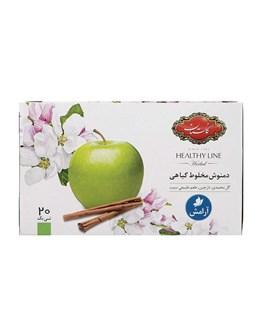 دمنوش کیسه ای مخلوط سیب و دارچین گلستان 20 عددی