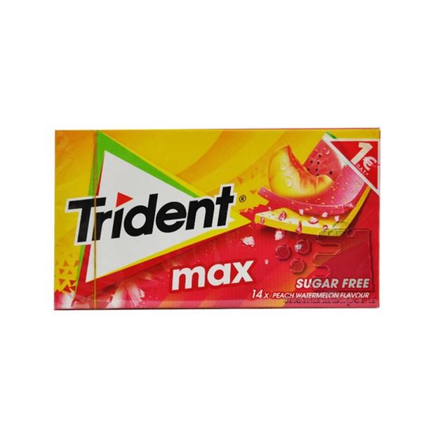 آدامس مکس تریدنت با طعم هلو و هندوانه بسته 14 عددی