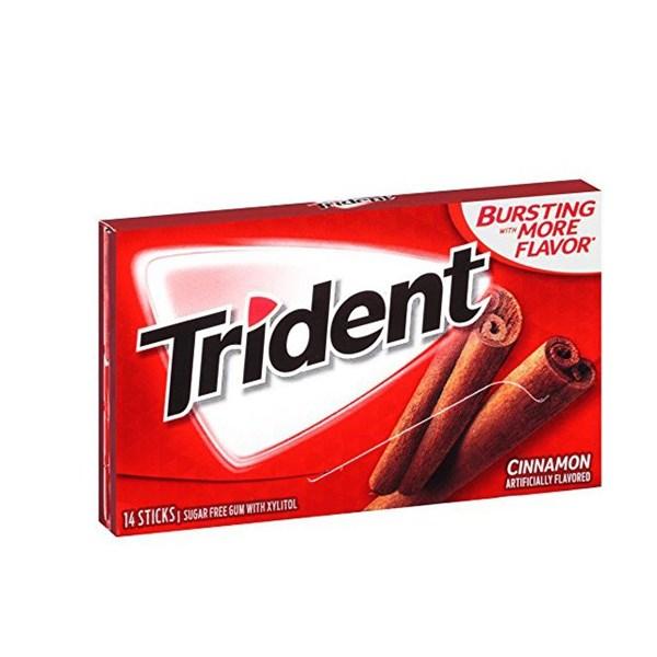 آدامس مکس تریدنت بدون قند با طعم دارچین بسته 14 عددی