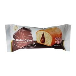 کیک با مغز کرم کاکائو نادری 55 گرمی