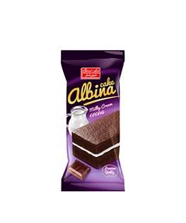 کیک کرم شیری با لایه کاکائویی آلبینا شیرین عسل 40 گرمی