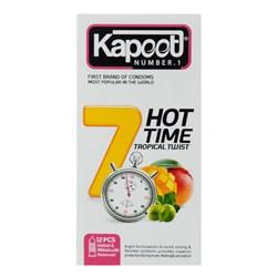 کاندوم کاپوت مدل 7Hot Time یک ساعته بسته 12 عددی