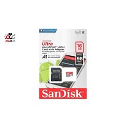 کارت حافظه  سن دیسک 16 گیگابایت مدل microSD Ultra A1 کلاس 10
