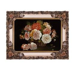 تابلو فرش ماشینی دنیای فرش طرح گلدان حصیری کد 312