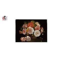 تابلو فرش ماشینی دنیای فرش طرح گلدان حصیری کد 313