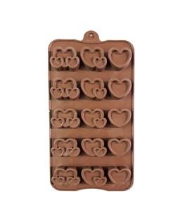 قالب شکلات سیلیکونی طرح قلب کد 3133