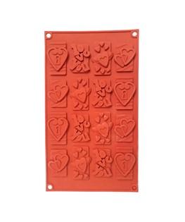 قالب شکلات و پاستیل سیلیکونی طرح قلب کد 4119