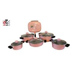 سرویس پخت و پز 12پارچه چدن ام جی اس مدل Korea