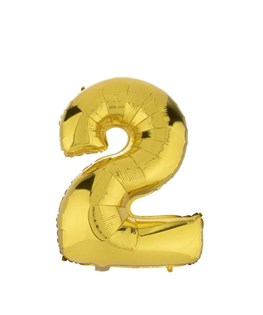 بادکنک فویلی عدد 2 طلایی 32 اینچی