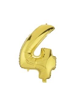 بادکنک فویلی عدد 4 طلایی 32 اینچی