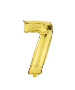 بادکنک فویلی عدد 7 طلایی 32 اینچی
