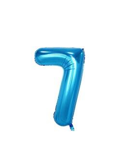 بادکنک فویلی عدد 7 آبی 32 اینچی