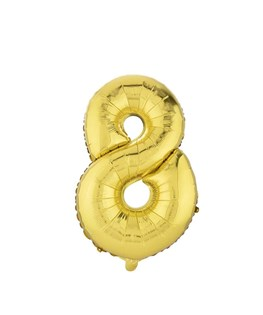 بادکنک فویلی عدد 8 طلایی 32 اینچی