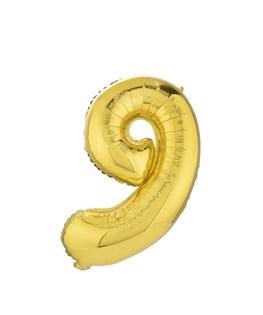 بادکنک فویلی عدد 9 طلایی 32 اینچی